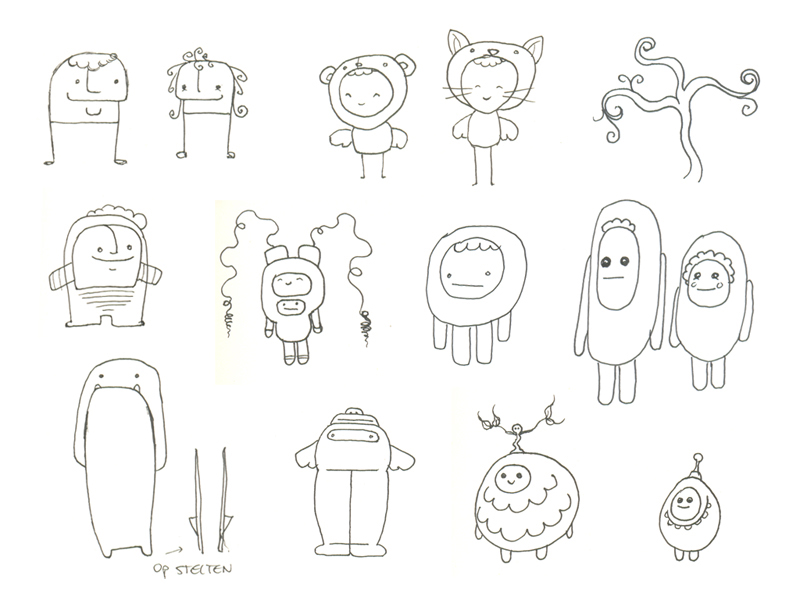 Character Design Outline : Character design lizzywanders page