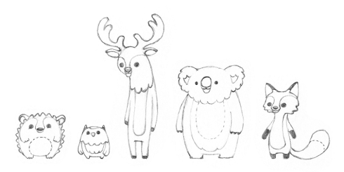 NWS_ForestFriends_sketches